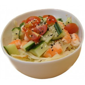 Salade de choux crevettes